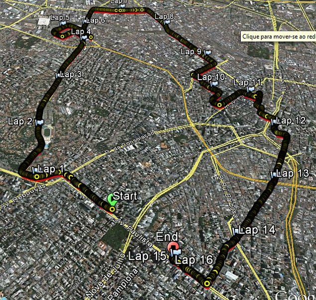 mapa sao silvestre dia 29 31dez2013