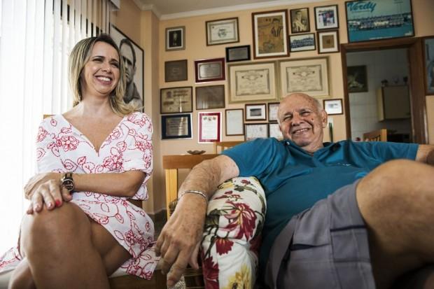 Ex jogador PEPE e sua filha Gisa Macia
